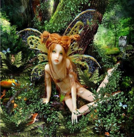 fairy doll in a garden