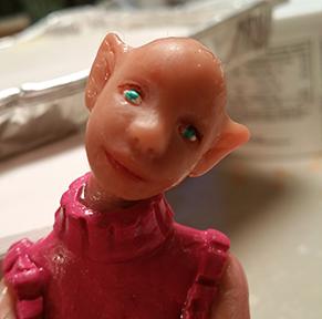 OIOAK art doll painted face