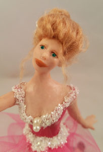polymer clay ballerina doll